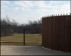 Iron & Wood Fencing